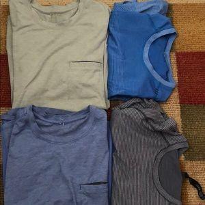 Lululemon shirts set of four like new